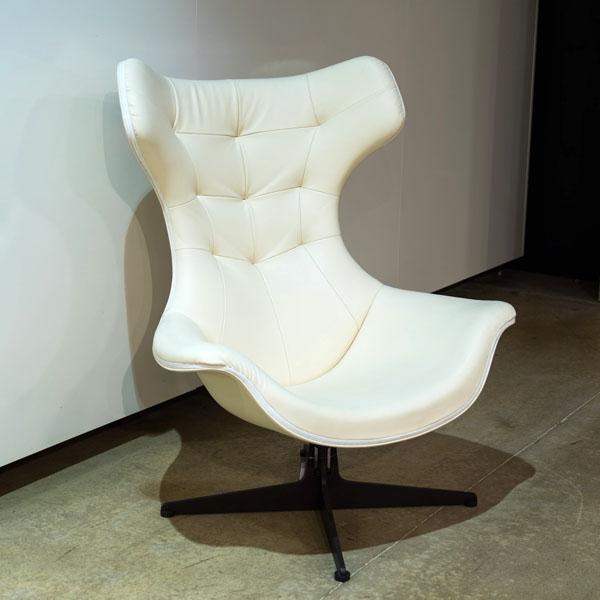 Poltrona Frau Regina II -nojatuoli, valkoinen